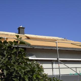 Montage von Unterdeckplatten (Holzfaser),Aufdachdämmung